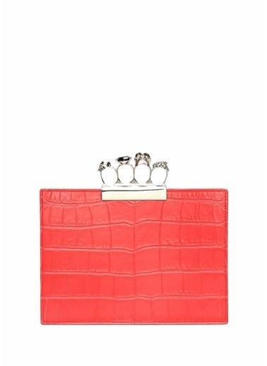 Alexander McQueen Clutch / El Çantası Kırmızı